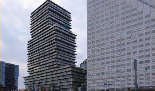 Opvallend nieuw gebouw in de Rotterdamse skyline: The Terraced Tower
