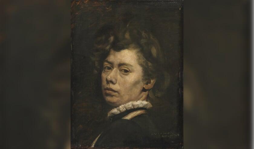 Zelfportret van Suze Robertson.