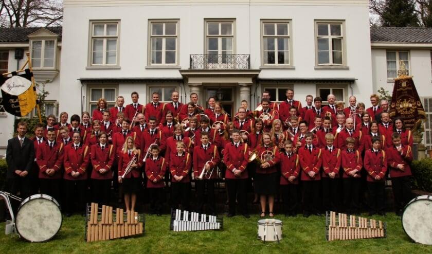 Christelijke Muziekvereniging Juliana uit Doornspijk. (Foto: Tis Peeters)