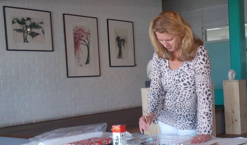 Creatief aan de slag in het Atelier. (Foto: Privé)