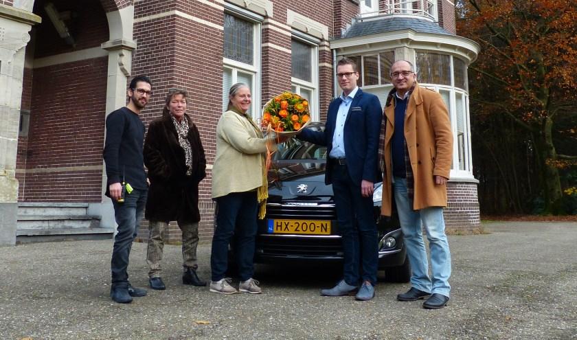 Sonil Sabouri, Petra Woudsma, Riet Nigten, Dennian van Beek en Masood Eslami.