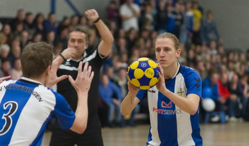 KV Wageningen won zaterdag met 33-18 van ROHDA. Foto: Gerrit Schets