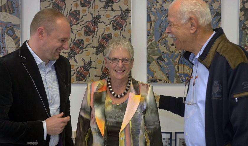 Wethouder Dennis Gudden (links), Frouwien Soenveld en Piet Bolwerk. Foto: Jaap Mons