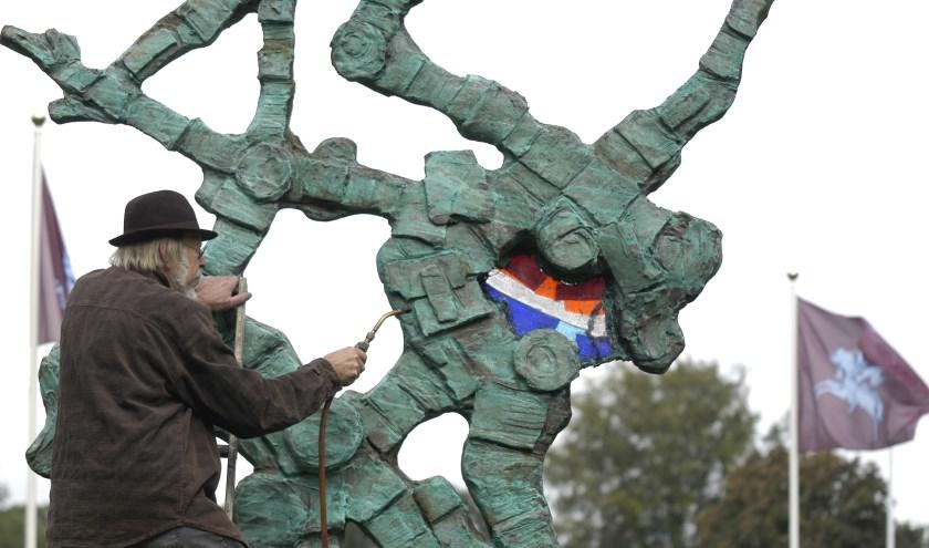 Jits Bakker plaatste in de regio veel kunstwerken. Foto: gertbudding.nl