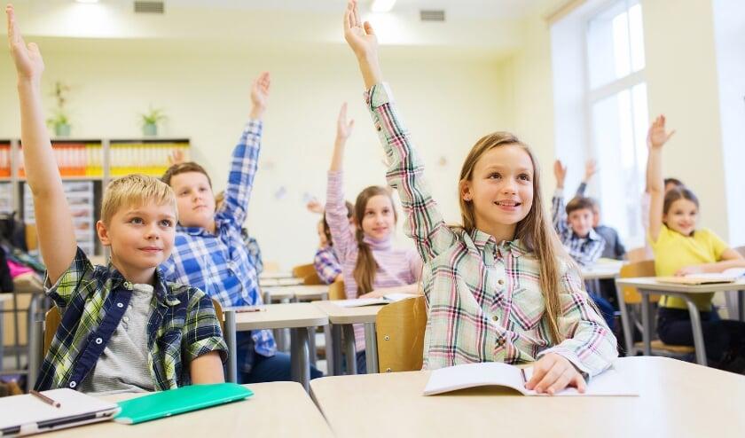 <p>Een schoolklas</p>