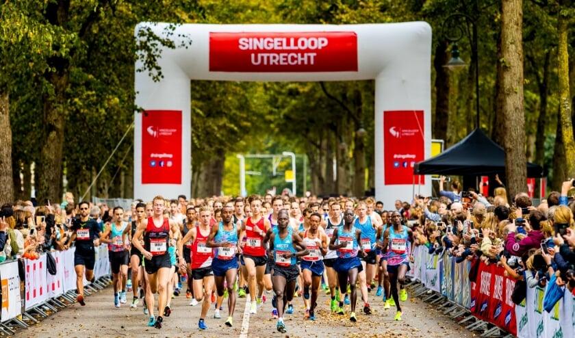 De 70e Singelloop Utrecht is uitgesteld naar volgend jaar, maar iedereen kan dit jaar op virtuele wijze toch meedoen aan deze stratenloop. Foto: Luka de Kruijf