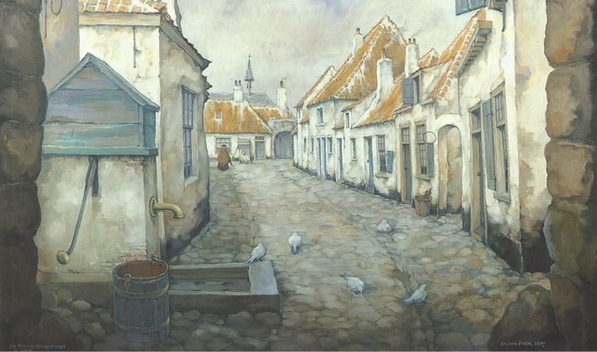 'De Teut', het olieverfschilderij dat Pieck maakte in 1987. Foto: Anton Pieck Museum