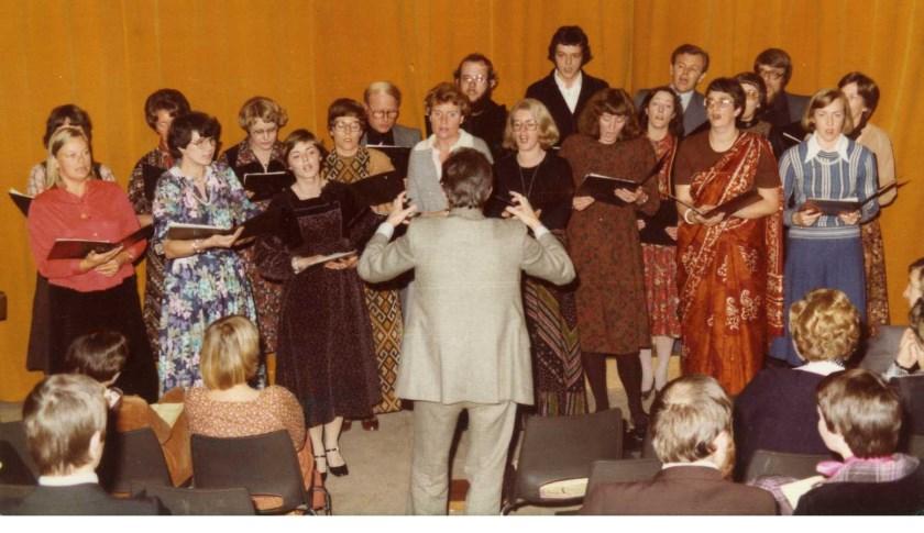 Het koor in 1978.