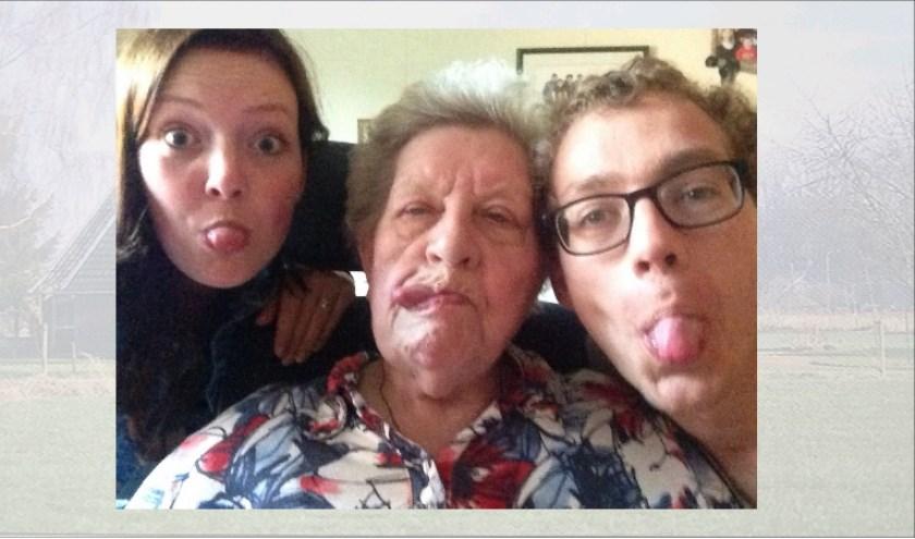 Gekkigheid met de kleinkinderen.