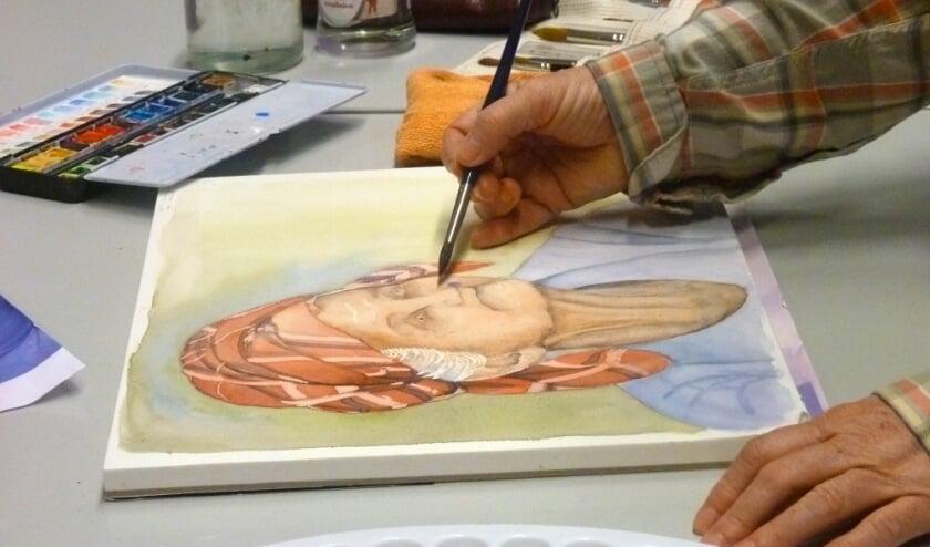 Leer je eigen aquarelstijl ontwikkelen tijdens de zesdelige workshop bij de volksuniversiteit. (foto: Kunstwerk!)