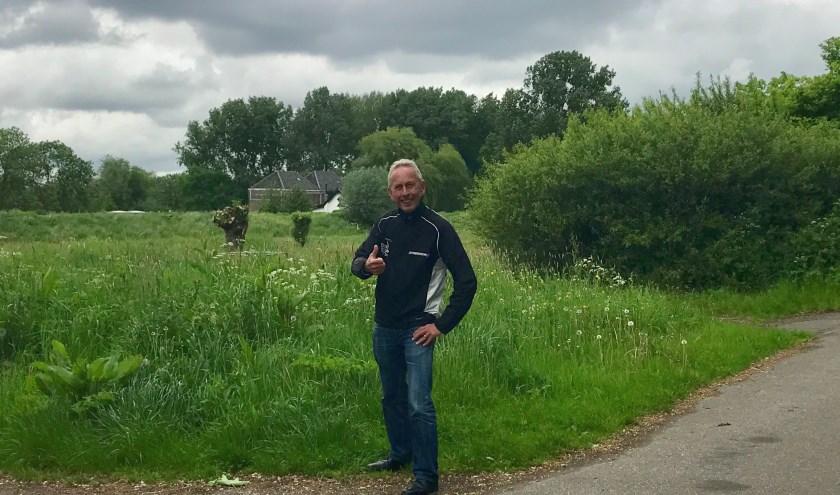 Bruun van der Stuut inspecteert het parcours van de Golden Ten Loop. Goedgekeurd! (Foto: Annemarie de Vries)