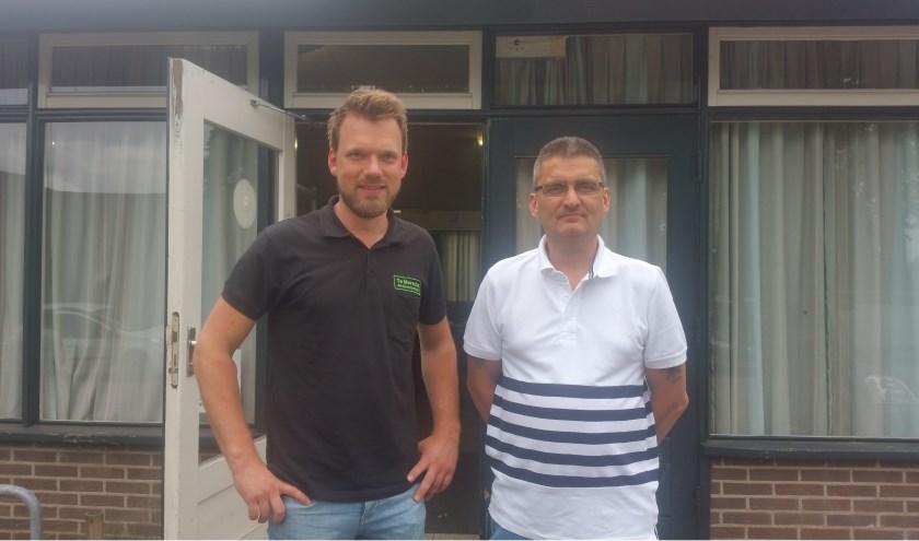 Op de foto links Rick te Morsche , rechts A.W.Janssen.