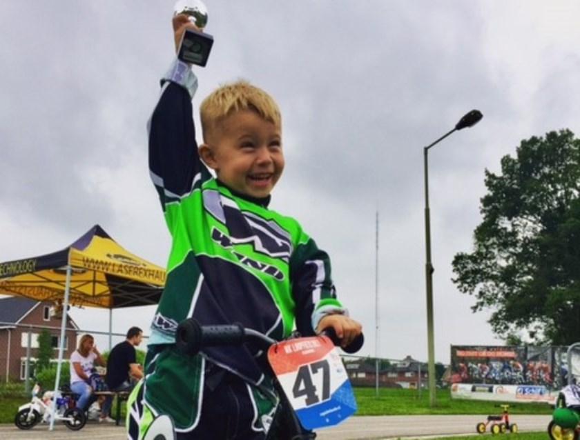 Max van Zalk behaalde de 5de plaats op het NK loopfietsen