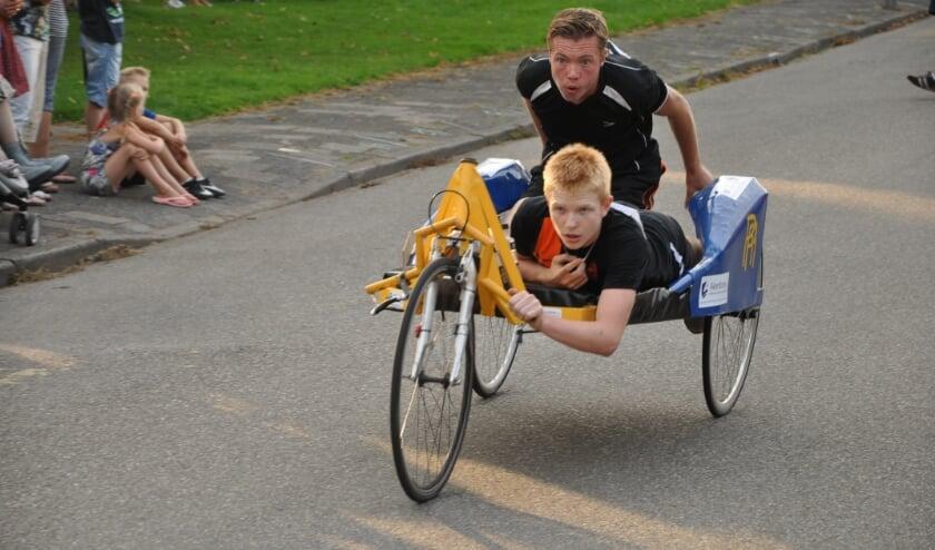 Hopelijk is er in 2021 weer De Beddenrace, een leuk onderdeel van de Langeraarse Feesten. Foto: PR