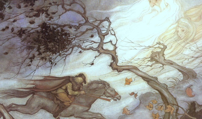 Erlkönig, illustratie uit 'Franz Schubert'; aquarel Anton Pieck. (afbeelding Anton Pieck Museum)