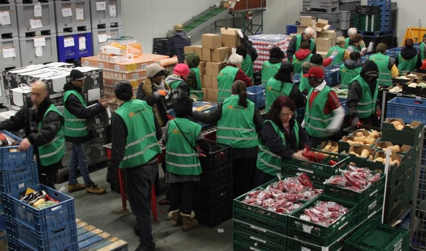 Voedselbank Rotterdam functioneert als distributiecentrum voor 27 voedselbanken in andere steden. Er werken uitsluitend vrijwilligers.