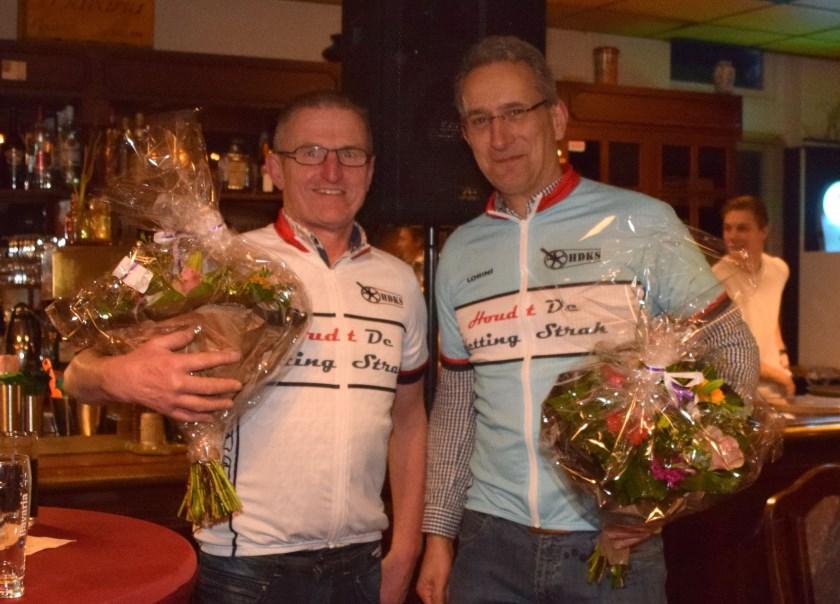 Clubkampioenen Gertie Tellegen en Louis Boumeester.