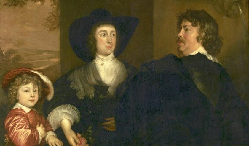 Dit is een schilderij van Adriaan Hanneman genaamd De portretschilder Jonson van Ceulen en zijn familie. Foto: Collectie RMT