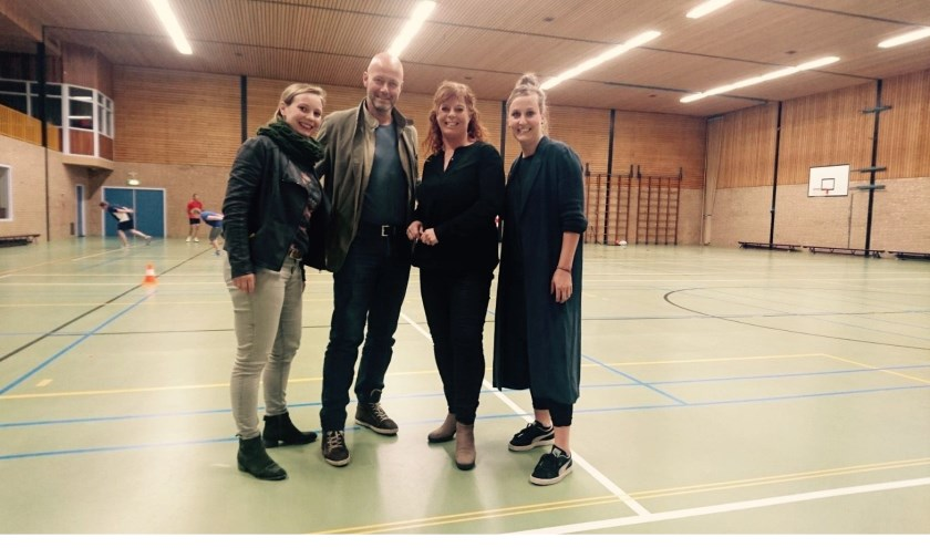 De sponsorcommissie van de Hessenhal: Nicky Greven, Philip Appels, Melanie Bremer en Nefèr Koenders.