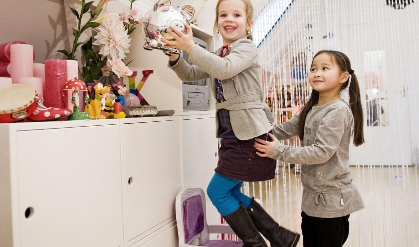 Kinderen met spaarpot