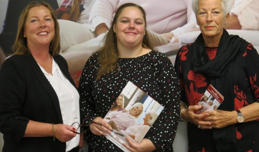 V.l.n.r. Heleen Aalders, Daphne Keijzer en Liesbeth Pauw van UWassistent team Woerden.