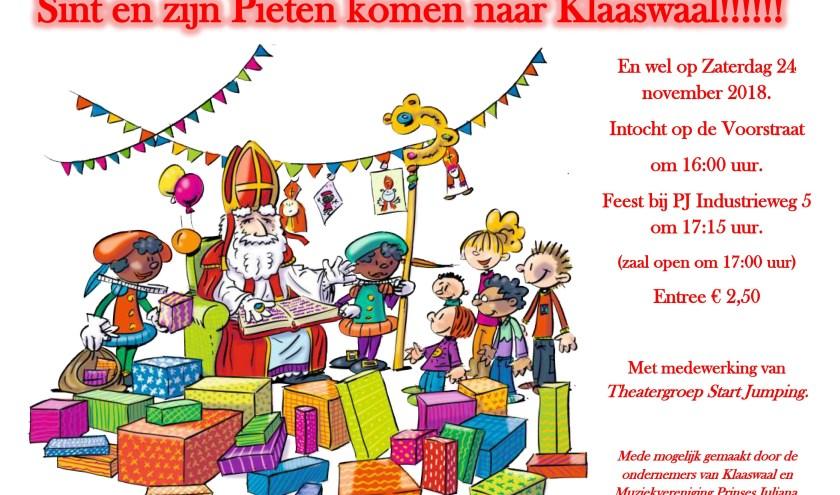 Intocht Sinterklaas Klaaswaal