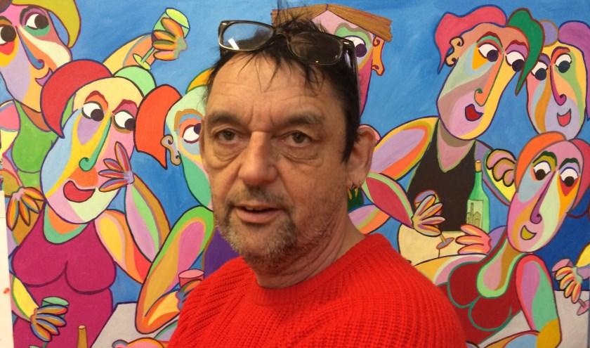 Twan de Vos maakt kleurrijke, uitdrukkingsvolle figuratieve kunst.