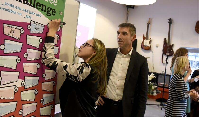 Afgelopen november startte de Smokefree Challenge in bijzijn van staatssecretaris Paul Blokhuis. Foto: Marianka Peters