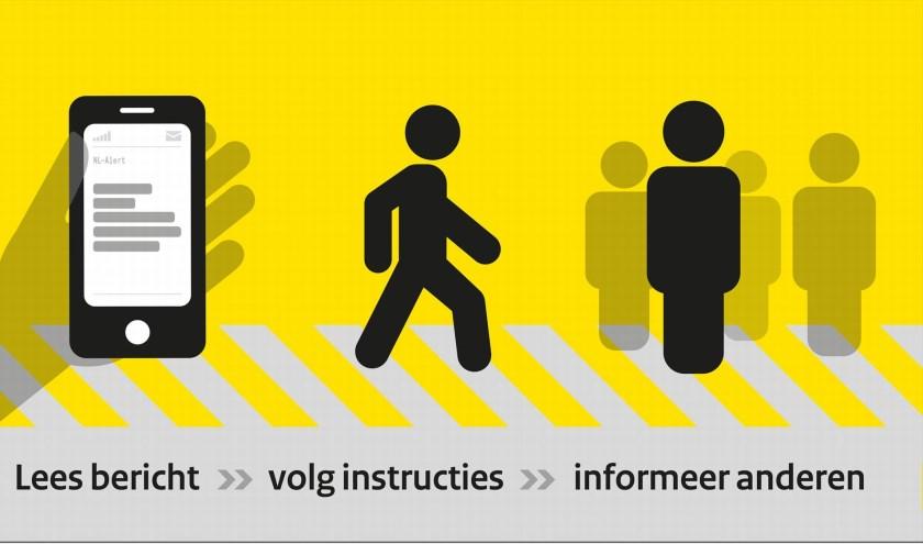 Maandag 3 december wordt om 12.00 uur een bericht NL-Alert uitgezonden.