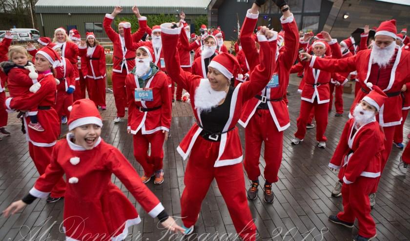 Druk bezochte Rotary Santa Run in Beusichem
