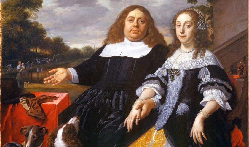 Bartholomeus van der Helst heeft dit werk, genaamdEchtpaar Hinlopen, geschilderd.
