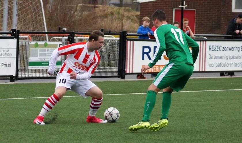 Kelvin Meijer scoorde één keer voor Gendringen en blijft op het vinkentouw.