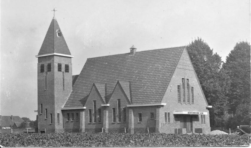 De gereformeerde kerk van Bontebrug anno 1942.