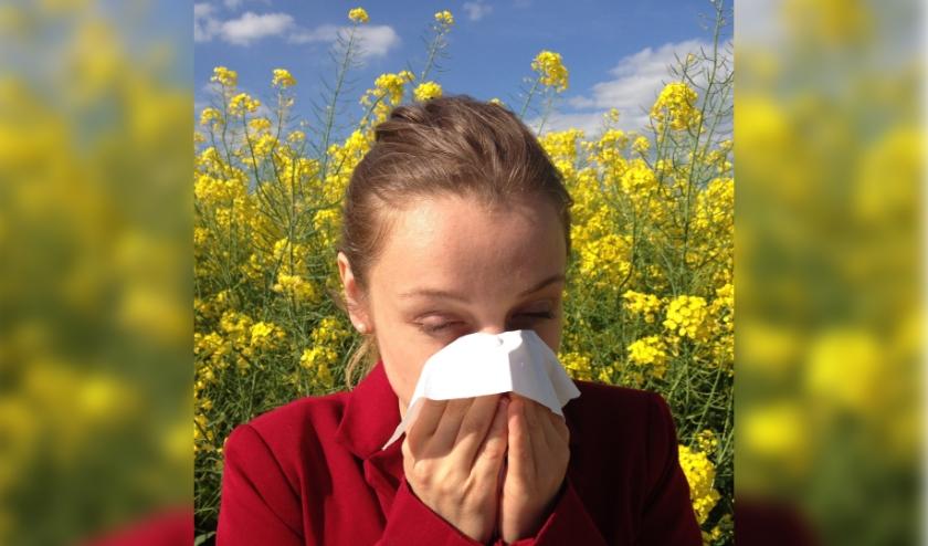Hooikoortsklachten door pollen.
