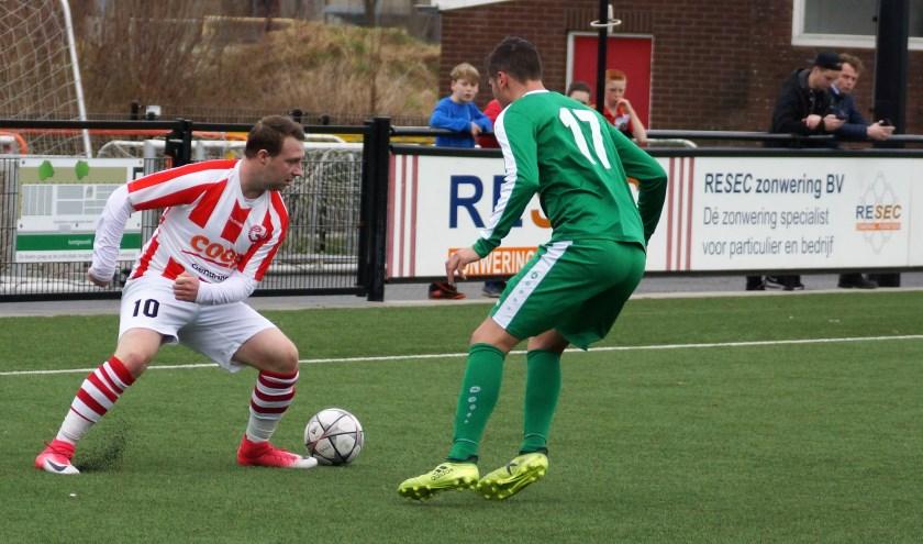 Kelvin Meijer in actie.