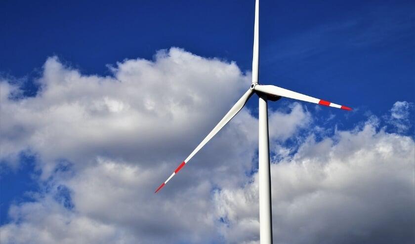 <p>Bij veel windmolen zit de rotor op 130 meter en rekt de punt tot 160 meter. (Foto: DPG Media)</p>