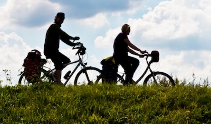 Deelnemers aan een fietstocht dit voorjaar.