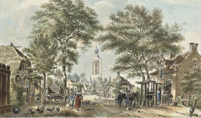 'Gezicht op Scherpenzeel' (detail), Jan de Beijer (1713-1780), Rijksmuseum Amsterdam.