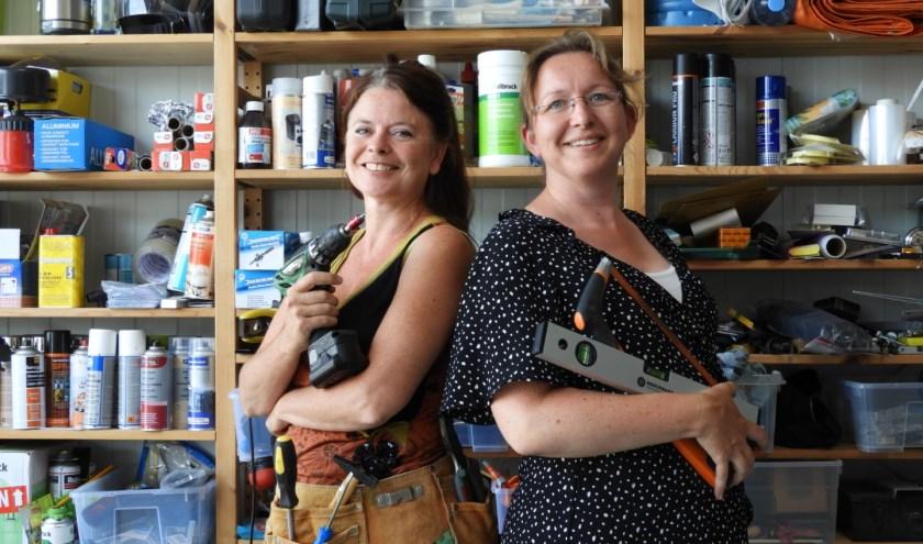 De Klusjevrouwen, Bianca Runge (links) en Esther Splinter (rechts) FOTO: PR