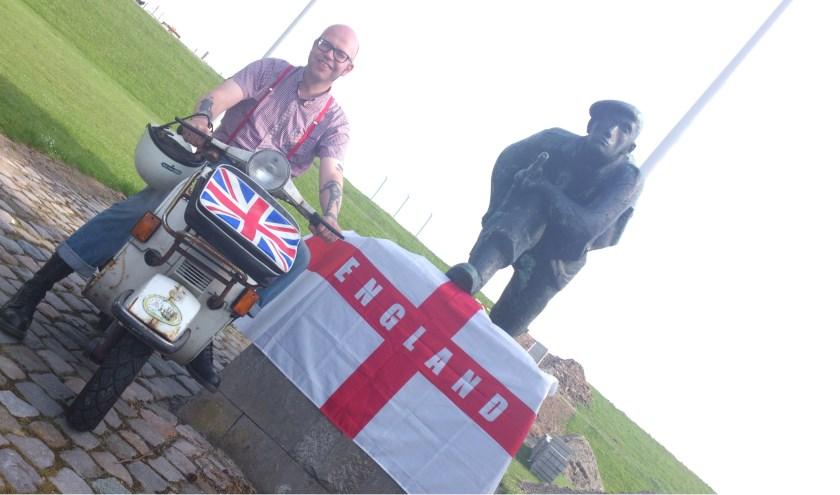 Del van der Linden, voelt zich verbonden met het Verenigd Koninkrijk. FOTO: Teye Barkema