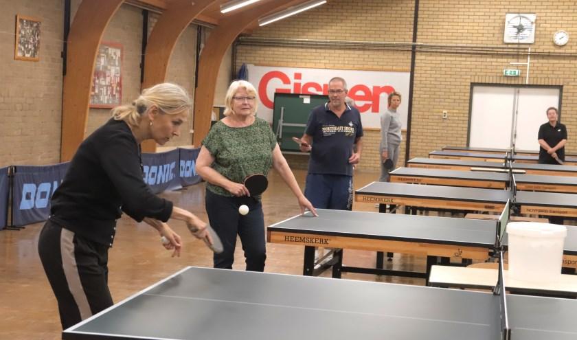 Bettine Vriesekoop verzorgde een leerzame clinic.