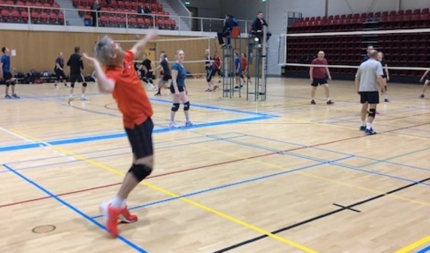 Leden van Rabobank Orion Volleybal starten 2019 sportief tijdens het Nieuwjaarstoernooi