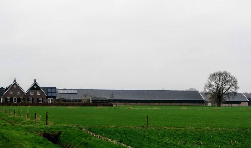 Het bedrijf van Wilco Wijlhuizen waar de zonnepanelen op gaan komen.