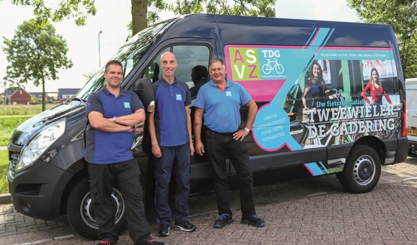 Team Tweewieler Gadering. Vlnr: Roy Nugens, Vincent van den Berg en Joop van Gils. Foto: Bianca van Helden