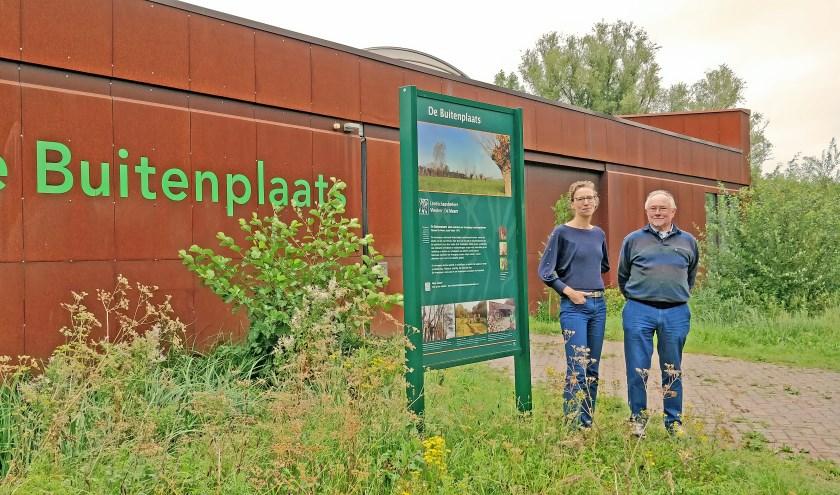 Charlotte Robben en Tabe Tietema van Landschapsbeheer Vleuten-De Meern.