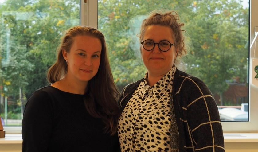 Ivanka van de Wardt en Marloes Klok zetten zich in voor vrouwen die ziek thuis zitten na een depressie of burnout. FOTO:  Ellis Plokker