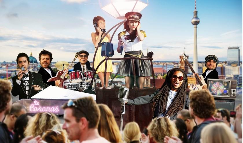 De Coronas, een interactieve stand-up popband voor elk publiek met een repertoire van zo'n 5.000 nummers.