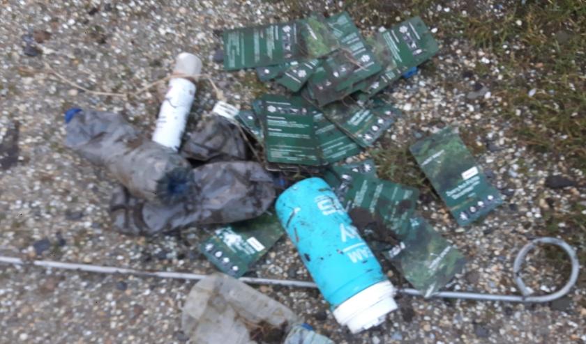 Door het verdwijnen van afvalbakken is er steeds meer zwerfafval in het Kruisvaarderspark. Foto: Archief DPG Media