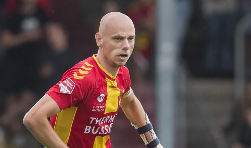 Elmo Lieftink werd geboren in Deventer en staat sinds dit seizoen onder contract bij Go Ahead Eagles: 'Ik kreeg al snel een goed gevoel bij de club.' (Foto: Erik Pasman)