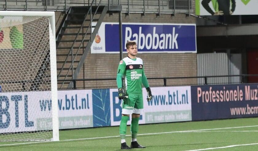 <p>Stijn van Gassel in zijn 100e wedstrijd in 2019.</p>